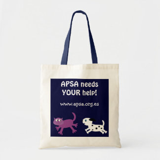 APSA Animal Protection Charity Cartoon Dog & Cat Budget Tote Bag