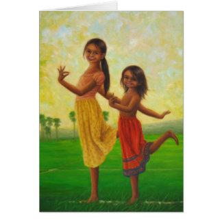 """""""Apsara Dance in a Rice Field"""" Card"""