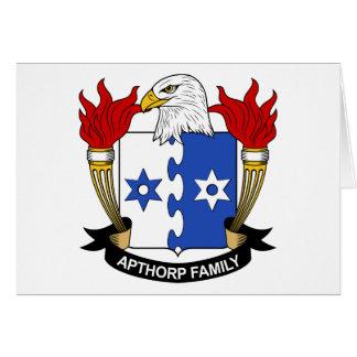 Apthorp Family Crest Card