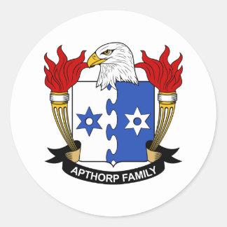Apthorp Family Crest Sticker