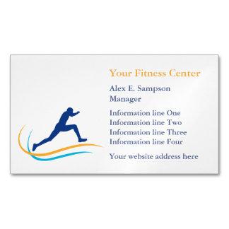 Aptitud azul del remolino del oro del atleta tarjetas de visita magnéticas (paquete de 25)