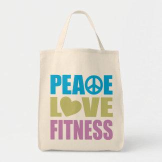 Aptitud del amor de la paz bolsa tela para la compra