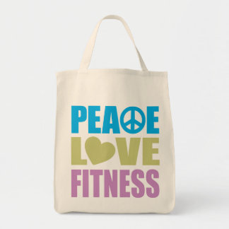Aptitud del amor de la paz bolsa de mano