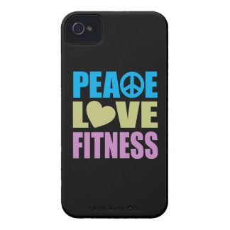 Aptitud del amor de la paz iPhone 4 Case-Mate cobertura