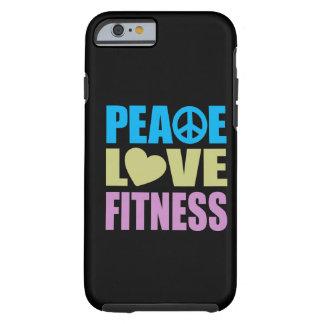 Aptitud del amor de la paz funda de iPhone 6 tough