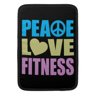 Aptitud del amor de la paz fundas macbook air
