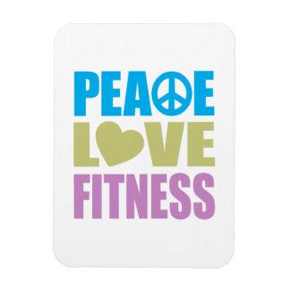 Aptitud del amor de la paz imanes de vinilo
