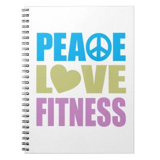 Aptitud del amor de la paz libro de apuntes con espiral