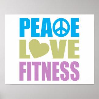 Aptitud del amor de la paz poster
