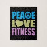 Aptitud del amor de la paz puzzle con fotos