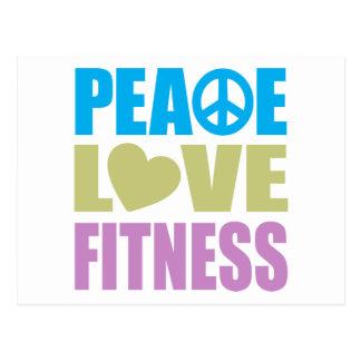 Aptitud del amor de la paz tarjeta postal