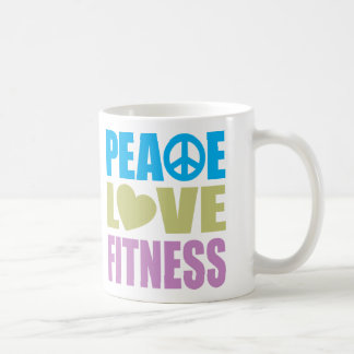Aptitud del amor de la paz taza de café