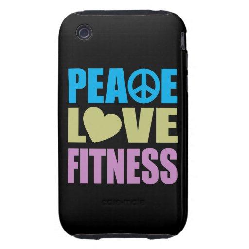 Aptitud del amor de la paz tough iPhone 3 fundas