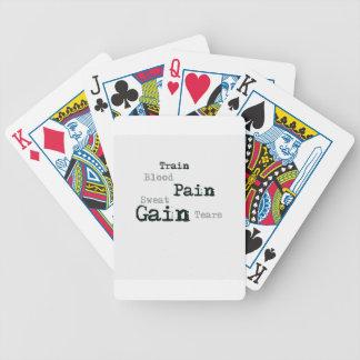 Aptitud del aumento del dolor del tren barajas de cartas