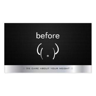Aptitud del gimnasio antes y después del instructo plantillas de tarjeta de negocio