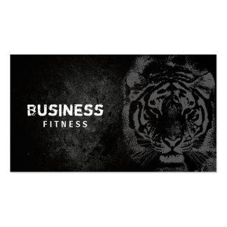Aptitud negra y blanca profesional del tigre tarjetas de visita