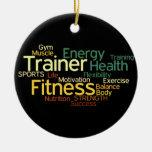 Aptitud/ornamento personal del instructor adornos de navidad