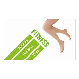 Aptitud personal del instructor de la pierna verde tarjetas de visita