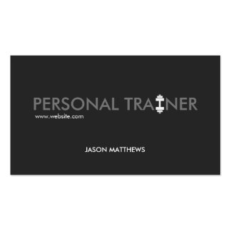Aptitud personal fresca del logotipo de la pesa de tarjetas de visita
