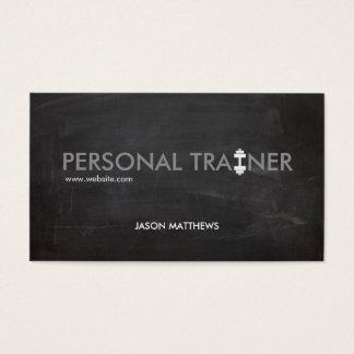 Aptitud personal rústica del logotipo de la pesa tarjetas de visita