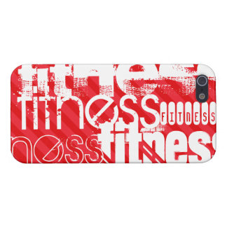 Aptitud; Rayas del rojo del escarlata iPhone 5 Carcasas
