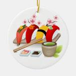 ¡Aptitud - sushi! por SRF Adorno Redondo De Cerámica