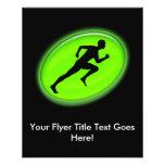 Aptitud verde del resplandor y logotipo personal d flyer personalizado