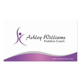Aptitud y nutricionista - tarjetas de visita