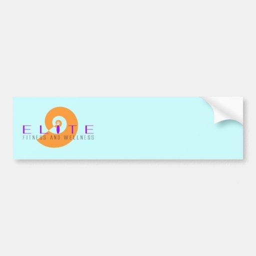 Aptitud y salud 4 de la élite pegatina de parachoque
