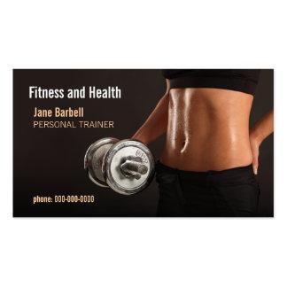 aptitud y salud plantilla de tarjeta personal