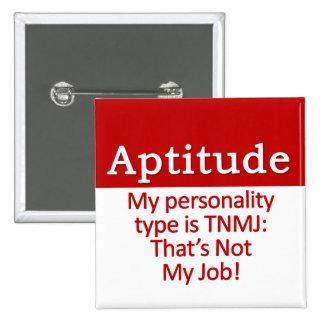 Aptitude Pinback Button
