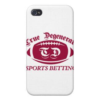 Apuesta degenerada verdadera de los deportes iPhone 4 funda