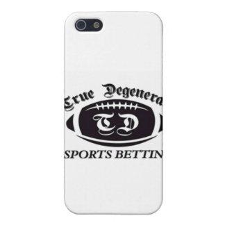 Apuesta degenerada verdadera de los deportes iPhone 5 carcasa