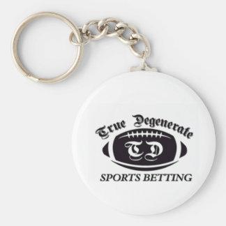 Apuesta degenerada verdadera de los deportes llaveros