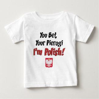 Apueste su polaco de Pierogi Playera De Bebé