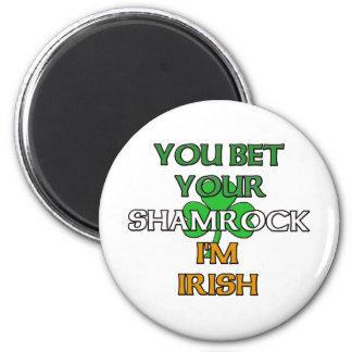 Apueste su trébol que soy irlandés imán redondo 5 cm