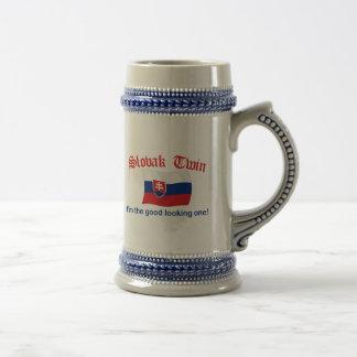 Apuesto gemelo el eslovaco jarra de cerveza