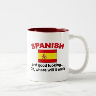 Apuesto y español taza de café