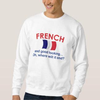 Apuesto y francés sudaderas encapuchadas