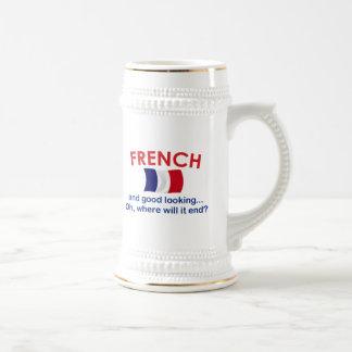 Apuesto y francés tazas
