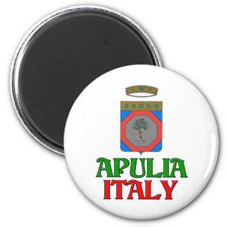 Apulia Italia Imán Redondo 5 Cm