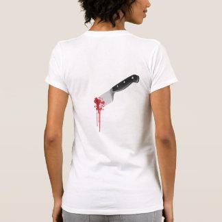 Apuñalado en la parte posterior camiseta