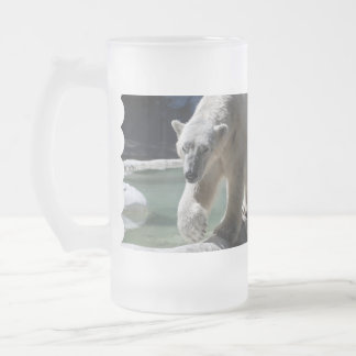 Apuntalar el oso polar taza cristal mate