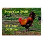 ¡Apuntale su materia - es su cumpleaños!  Tarjeta