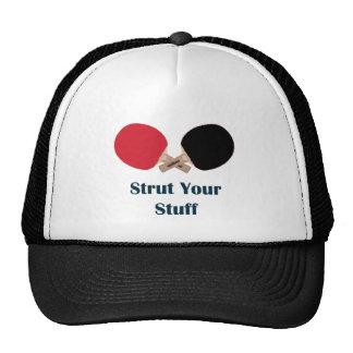 Apuntale su ping-pong de la materia gorras de camionero