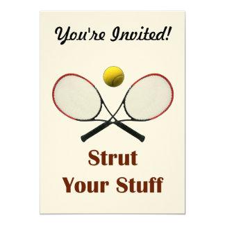 """Apuntale su tenis de la materia invitación 5"""" x 7"""""""