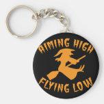 Apuntar a la bruja baja del alto vuelo que vuela H Llavero