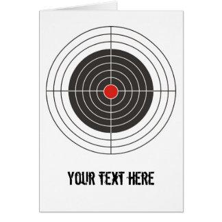Apunte el tiroteo para la pistola del arma, del ri tarjeta de felicitación