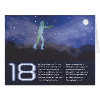 Apunte para las estrellas la tarjeta de cumpleaños
