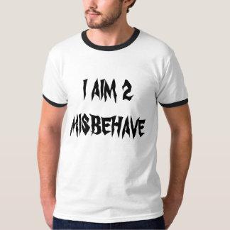 """Apunto 2 comportarse mal"" camiseta"